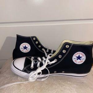 Brand New! Black Hightop Converse!